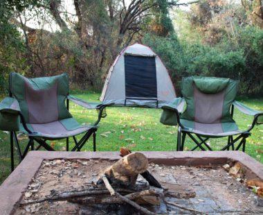 Chalet views & Camping